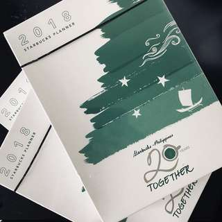 Sealed Starbucks 2018 Planner with Promo Card Included
