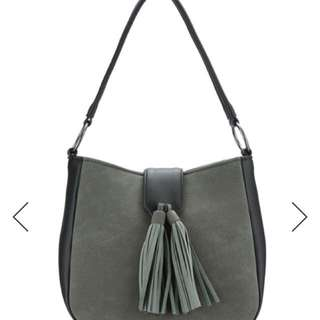 Tasseled Flap Hobo Bag
