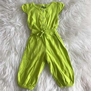 Green Jumpsuit fit 0 - 12m