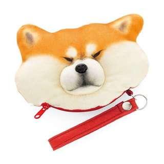 日本 可愛柴犬  可捏臉 可防盗 交通卡包 零錢包 鑰匙包