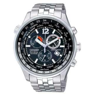 CITIZEN 星辰 Eco-Drive 光動能 Chronograph World Time AT0365-56E