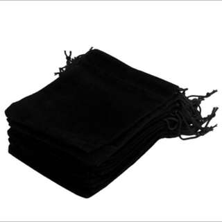 Velvet Gift Pouch Jewelry Packaging Drawstring Bag Stud Earring Ring Cufflink Watch Storage