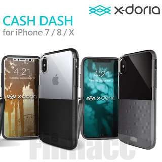 X-doria Cash Dash 皮質 + 半透明 硬殼 包4邊 iPhone X / 8 / 7 Plus 用