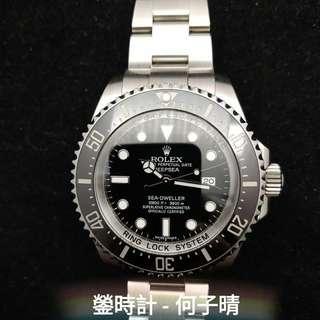 Rolex 116660 DEEPSEA黑面 亂碼藍光 行貨888  全套齊 93%新 2015年錶