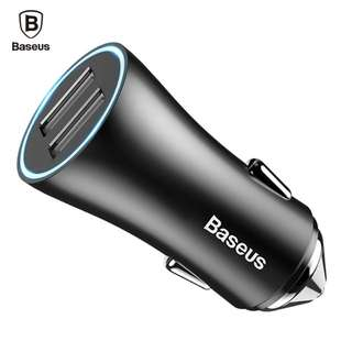 Baseus dual port USB car charger for mobile phone and tablet