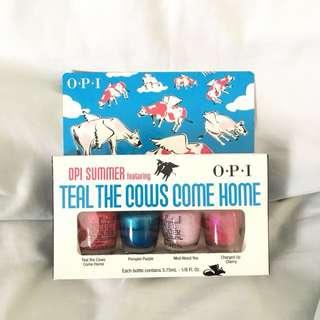 OPI Nail Polish Teal The Cows Come Home