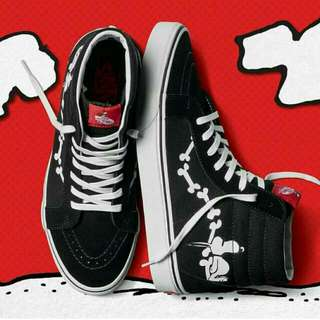 Vans Sk8 Hi X Peanut Reissue Bones Black