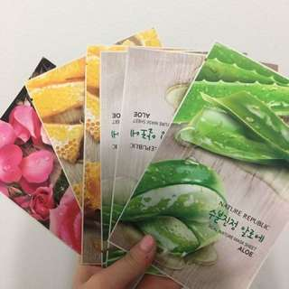 10x Nature Republic sheet masks