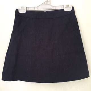 Glassons Navy A-Line Skirt