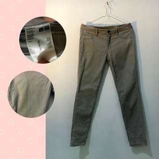 Grey Skinny Pant By Uniqlo