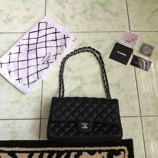 """Repriced!! """"Chanel"""" classic flap bag with serial code"""