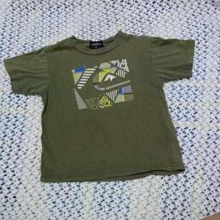 Quicksilver army green tshirt with flaws