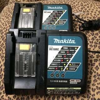 曰本二手九成新牧田MakiTa充電器。抵達台