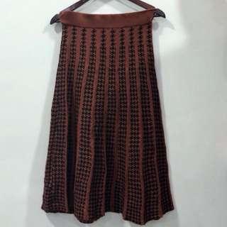 Orange Knitted Skirt