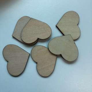 Laser Cut Wooden Hearts