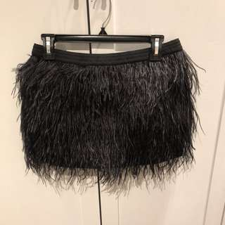 Mason Ostrich Feather Skirt