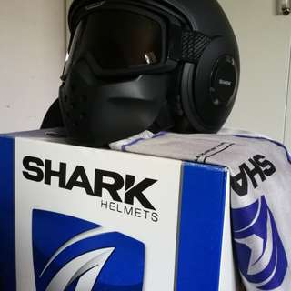 SHARK RAW / BLANK Mat - Black (Size L) | Motorcycle Helmet