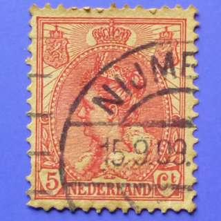 Stamp Netherlands 1899 Wilhelmina (1880-1962) 5c