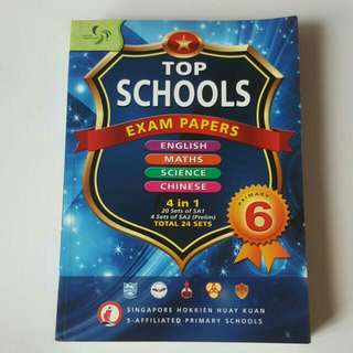 FIXED PRICE📬[RP$23.55] Primary 6 TOP Schools 2010 Exam Papers (English, Maths, Science & Chinese)