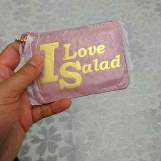 Salad pink card holder 粉紅色八達通卡套