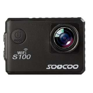 SOOCOO BRAND S100 SPORTS WEBCAM WIFI 4K NTK96660 BAND GPS FUNCTION GYRO WATERPROOF (BLACK)