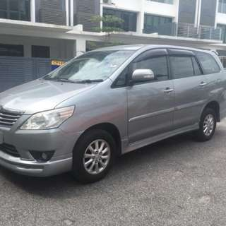 Toyota Innova G Spec For Rent