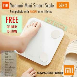 [NEW] Xiaomi Yunmai Mini Gen 2 BIA Body Fat Scale BMI Muscle Bone Mass BMR