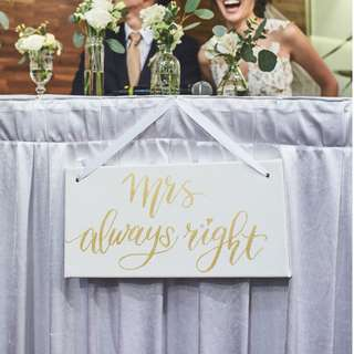 Wedding Mr. Mrs. Table/ Chair signs Rental