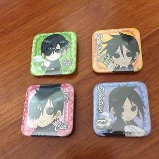 Kuroshitsuji Black Butler Badges