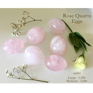 Rose Quartz CRYSTAL EGGS (LARGE SIZE)