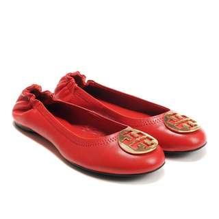 Tory Burch Rosso Reva Flats