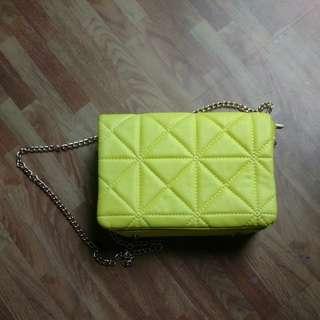 Yellow Sling Purse Bag