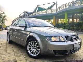 全額貸。2003年 奧迪 A4 渦輪四缸 天窗 可履約保證無重大事故泡水 3500元即可交車