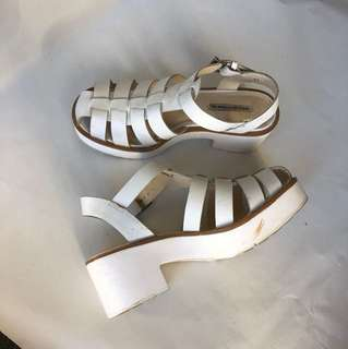 Windsor Smith White Sandals 8.5