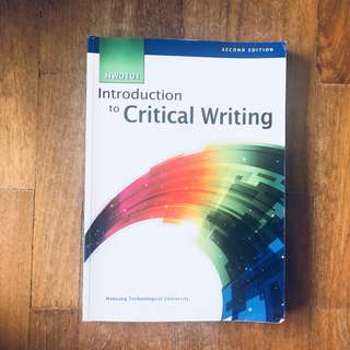 HW0103 Textbook - Introduction to Critical Writing