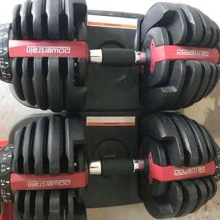 Powertrain adjustable dumbell