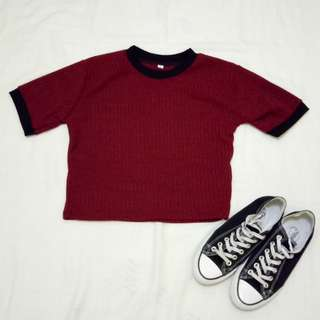 Crop top marron