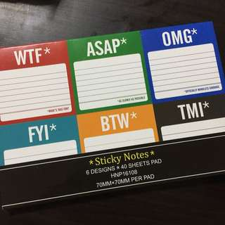 Cute Sticky Notes Paper Set by 6