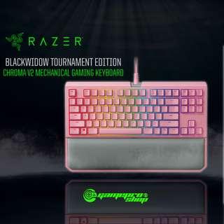 Razer Blackwidow Tournament EDI Chroma V2 Quartz Mechanical Gaming Keyboard (RZ03-02191700-R3M1)