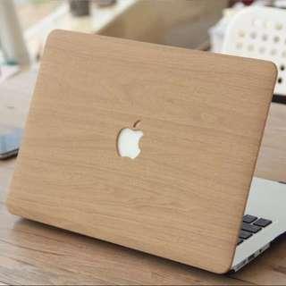 INSTOCK Brown Wood Design MacBook Hard Cover case
