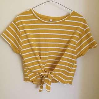 Mustard crop tie up top