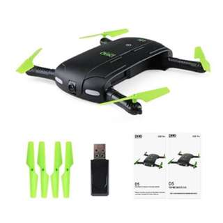 DHD D5 MINI FOLDABLE RC POCKET DRONE BNF WIFI FPV 0.3MP CAMERA / G-SENSOR MODE / WAYPOINTS (BLACK)