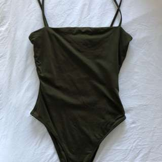 Kookai Khaki Bodysuit Size 1