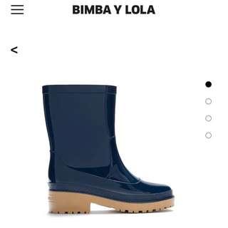 Bimba Y Lola Blue Rain Boot