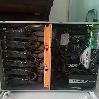 Almost New! Cryptocurrency (ethereum) Mining Rig