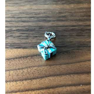 70% off - Authentic Tiffany & Co Blue Box Charm in sterling silver with Tiffany Blue® enamel finish