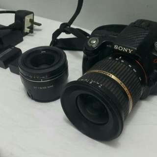 SONY A55 +Tamron Wide Lenses+Sony 50mm Lenses