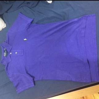 Original Polo Shirt Purple/ Lime Size Small