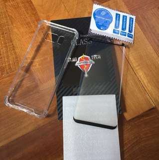 Samsung S8 tempered glass + clear hard case
