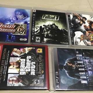 PS3 games plus Grand Theft Auto 5